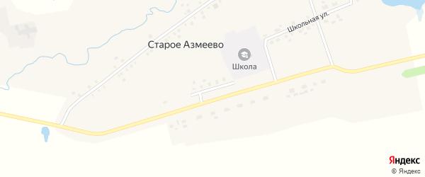 Молодежная улица на карте села Старое Азмеево с номерами домов
