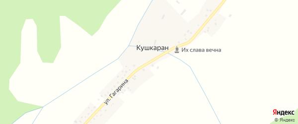 Улица Гагарина на карте деревни Кушкарана с номерами домов