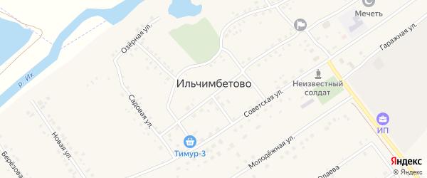 Гаражная улица на карте села Ильчимбетово с номерами домов