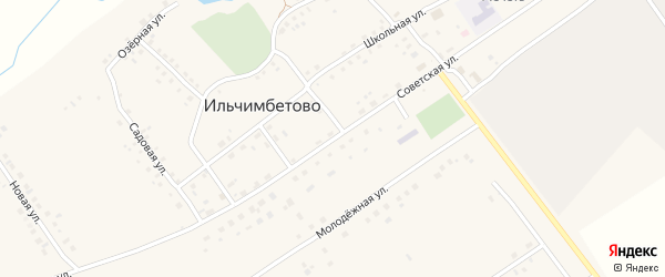 Советская улица на карте села Ильчимбетово с номерами домов