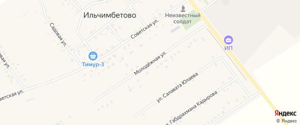 Молодежная улица на карте села Ильчимбетово с номерами домов