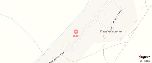Школьная улица на карте села Старые Сулли с номерами домов