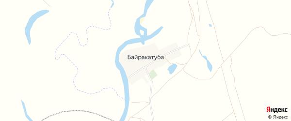 Карта деревни Байракатубы в Башкортостане с улицами и номерами домов