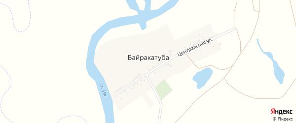 Центральная улица на карте деревни Байракатубы с номерами домов