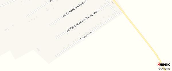 Горная улица на карте села Ильчимбетово с номерами домов