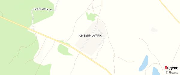 Карта деревни Кызыла-Буляка в Башкортостане с улицами и номерами домов