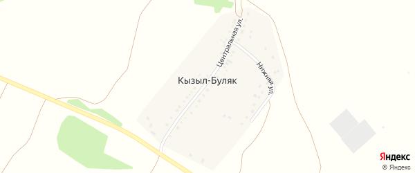 Солнечная улица на карте деревни Кызыла-Буляка с номерами домов