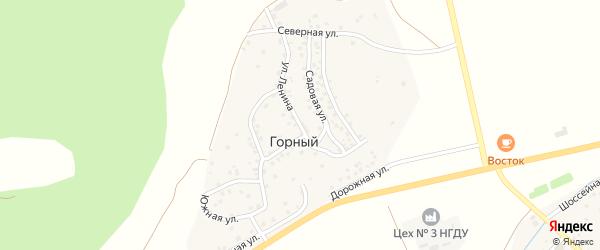Улица Ленина на карте деревни Горного с номерами домов