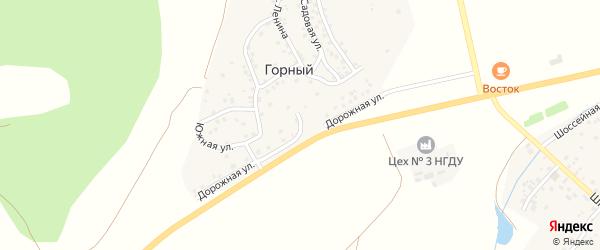 Дорожная улица на карте деревни Горного с номерами домов