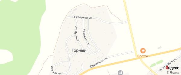Улица Гагарина на карте деревни Горного с номерами домов