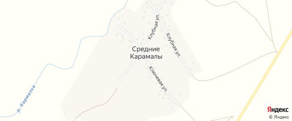Ключевая улица на карте села Средние Карамалы с номерами домов