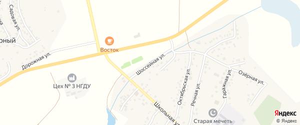Шоссейная улица на карте села Старых Туймазы с номерами домов