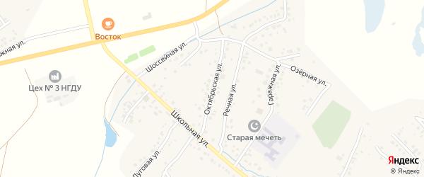 Октябрьская улица на карте села Старых Туймазы с номерами домов