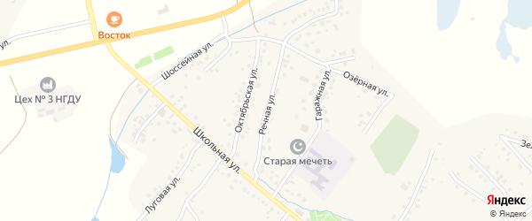 Речная улица на карте села Старых Туймазы с номерами домов
