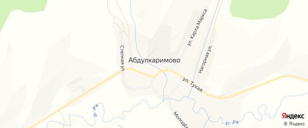Карта села Абдулкаримово в Башкортостане с улицами и номерами домов
