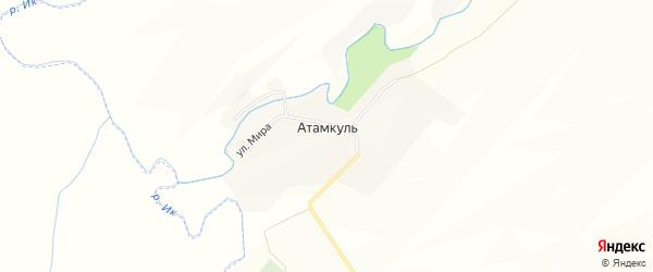 Карта села Атамкуля в Башкортостане с улицами и номерами домов