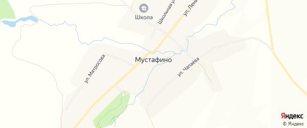 Карта села Мустафино в Башкортостане с улицами и номерами домов