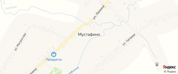 Речная улица на карте села Мустафино с номерами домов