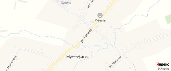 Улица Ленина на карте села Мустафино с номерами домов