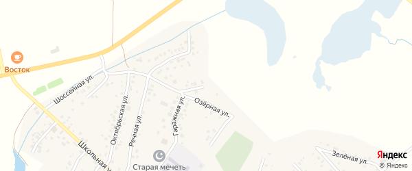 Озерная улица на карте села Старых Туймазы с номерами домов
