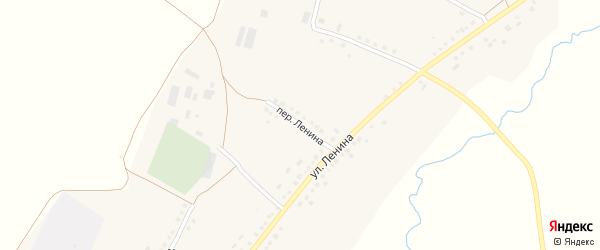 Переулок Ленина на карте села Мустафино с номерами домов