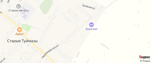 Первомайская улица на карте села Старых Туймазы с номерами домов