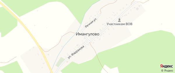 Шоссейная улица на карте деревни Имангулово с номерами домов