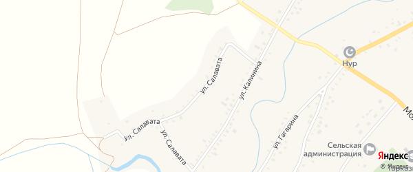 Улица Калинина на карте села Тарказы с номерами домов