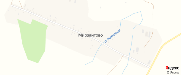 Родниковая улица на карте деревни Мирзаитово с номерами домов