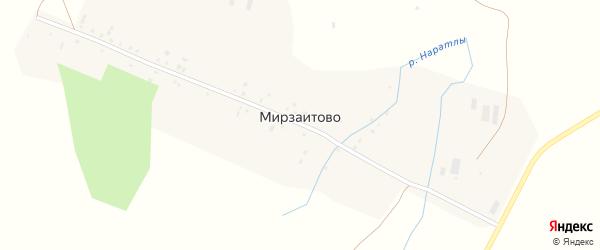 Центральная улица на карте деревни Мирзаитово с номерами домов