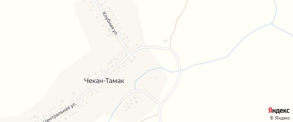 Центральная улица на карте села Чекана-Тамака с номерами домов