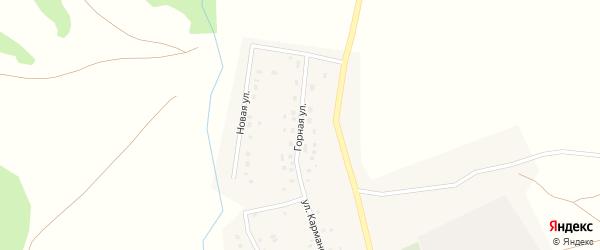 Горная улица на карте села Какрыбашево с номерами домов