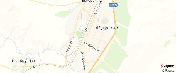 Карта Абдулино с районами, улицами и номерами домов