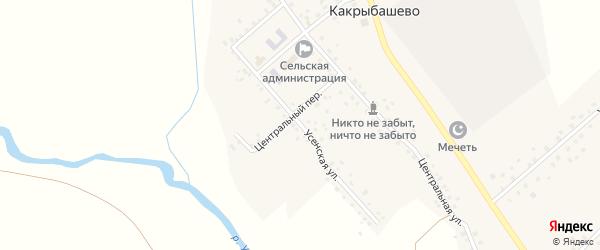 Усенская улица на карте села Какрыбашево с номерами домов