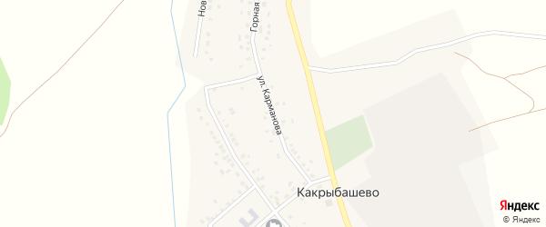 Улица Карманова на карте села Какрыбашево с номерами домов