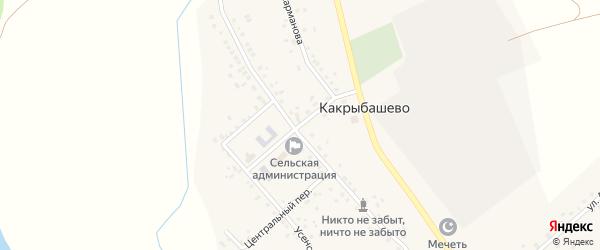Школьная улица на карте села Какрыбашево с номерами домов