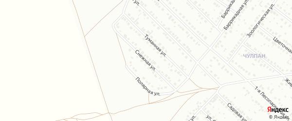 Снежная улица на карте Туймаз с номерами домов