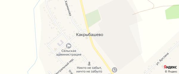 Дорожная улица на карте села Какрыбашево с номерами домов