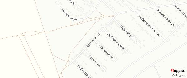 Весенняя улица на карте Туймаз с номерами домов