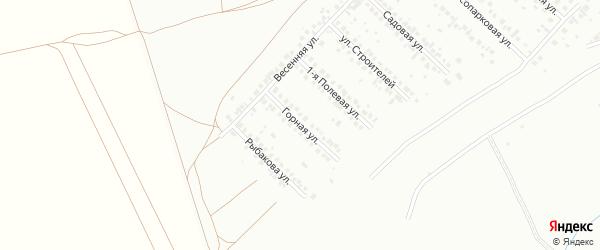 Горная улица на карте Туймаз с номерами домов