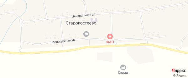 Молодежная улица на карте села Старокостеево с номерами домов