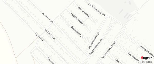 Шоссейная улица на карте деревни Камыштау с номерами домов