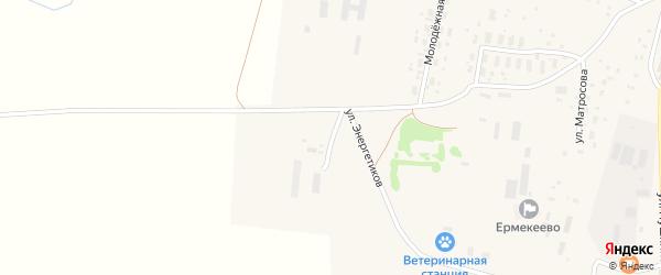 Инкубаторная улица на карте села Ермекеево с номерами домов