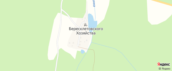 Озерная улица на карте деревни Бересклетовского хозяйства с номерами домов