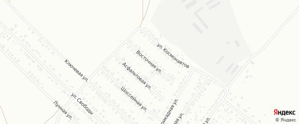 Восточная улица на карте Туймаз с номерами домов