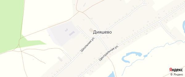 Школьная улица на карте села Дияшево с номерами домов