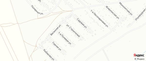 Улица Строителей на карте Туймаз с номерами домов