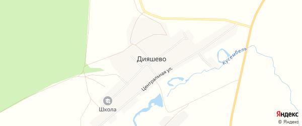Карта села Дияшево в Башкортостане с улицами и номерами домов