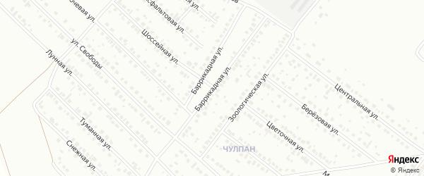 Баррикадная улица на карте Туймаз с номерами домов