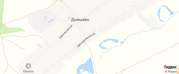 Центральная улица на карте села Дияшево с номерами домов